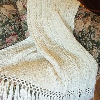 Knitting Pattern For Wedding Blanket : Ravelry: Irish Wedding Aran Afghan pattern by Sharondipity Designs