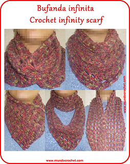 Crochet Stitches With No Holes : Ravelry: Crochet infinity scarf pattern by Soledad Z