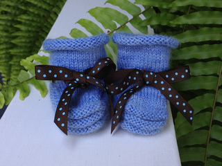 Ravelry Christine S Stay On Baby Booties Pattern By