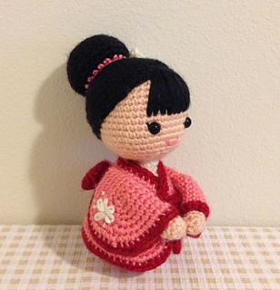 Japanese Amigurumi Doll Patterns : Ravelry: Japanese Amigurumi Kimono Girl Doll pattern by ...