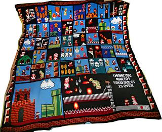 Crochet Pattern For Mario Blanket : Ravelry: Sylvais Super Mario Bros. Blanket
