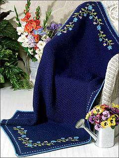 Ravelry Midnight Floral Afghan Pattern By Glenda Winkleman