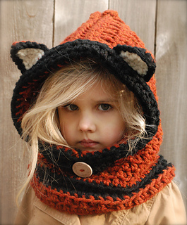 Free Crochet Fox Cowl Hat Pattern : Ravelry: Flint Fox Cowl pattern by Heidi May