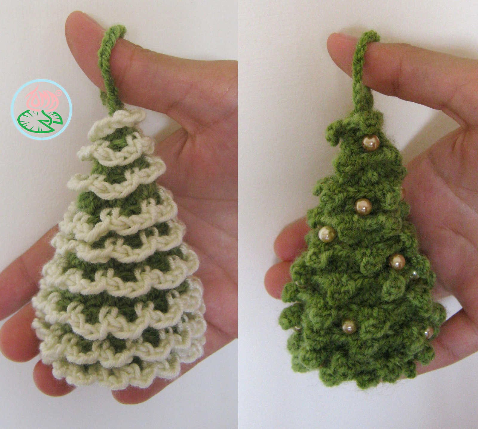 Amigurumi Christmas Trees Ornaments
