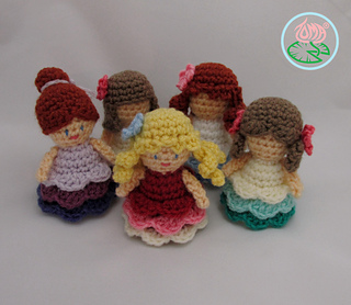 Amigurumi Ovalo : Ravelry: Amigurumi Mini ( Princess) Dolls pattern by ...