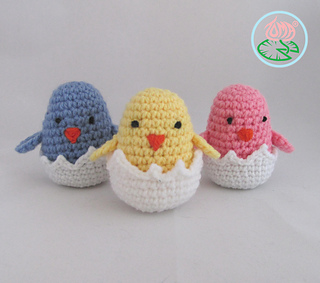 Amigurumi Hatching Easter Chicks : Ravelry: Amigurumi Hatching Easter Chicks pattern by ...