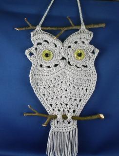 Ravelry Owl Hanger In Macrame Style Pattern By Thomasina