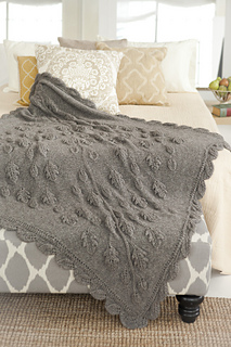 Vogue Knitting Leaf Blanket Pattern : Ravelry: #27 Leaf Blanket pattern by Inge Spungen