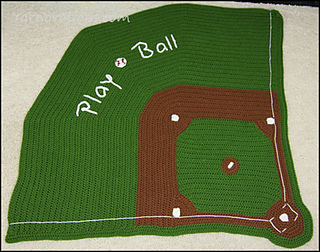 Ravelry Baseball Diamond Baby Blanket Pattern By Yarn Twins