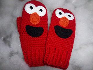 Elmo Doll Knitting Pattern : Ravelry: Ladies Elmo Mittens pattern by Susan Wilkes-Baker