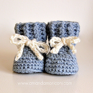 Ravelry: Lovely Laces Crochet Baby Booties Pattern pattern ...