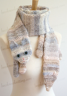 Knitted Cat Scarf Pattern : Ravelry: Calico Cat Scarf Pattern pattern by Bees Knees Knitting