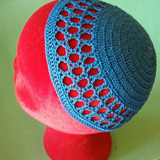 Crochet Patterns For Yarmulke : Ravelry: Star of David Kippah pattern by Elizabeth Ham