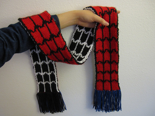 Ravelry: Spider-Man vs. Venom Scarf pattern by Jillyn