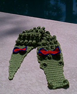 Ravelry: Crocheted Alligator Scarf pattern by Kathy S.