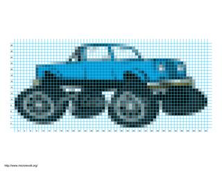 Monster Truck Dog >> Ravelry: monster truck pattern by Heidi Rosin