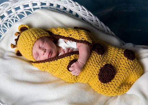 Вязание кокона для малыша