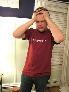 Casey Modeling the shirt I bought