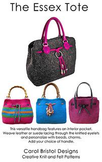 Ravelry Essex Tote Felted Handbag Pattern By Carol Bristol