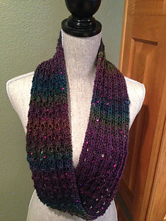 Ravelry: Mock Cable Rib Stitch Infinity Scarf pattern by ...