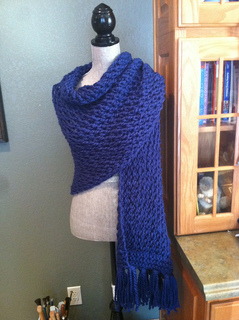 Ravelry: Chunky Lace Prayer Shawl pattern by Louis Chicquette