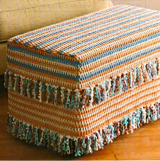 Ravelry 16 Fringed Ottoman Cover Pattern By Jeannie Chin