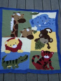 Ravelry Jungle Buddies Baby Blanket Crochet Kit No 99793