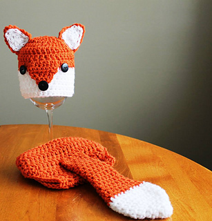 Ravelry: Fox hat and Diaper Cover pattern by Crochet by ...