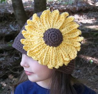 Sunflower Crochet Baby Hat Pattern : Ravelry: Sunflower Cloche Hat Crochet Pattern pattern by ...