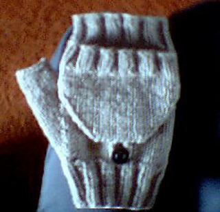 Ravelry Fingerless Mittens With A Flap Pattern By