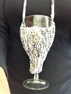 Free Pattern Crochet Wine Glass Holder : Ravelry: Wine Glass Holder for Loom Knitters pattern by ...