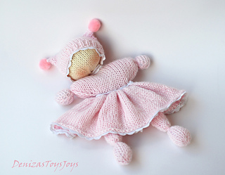 Crochet Knit Stitch Waldorf : Ravelry: Pink Waldorf knitted girl doll for small babies pattern by ...