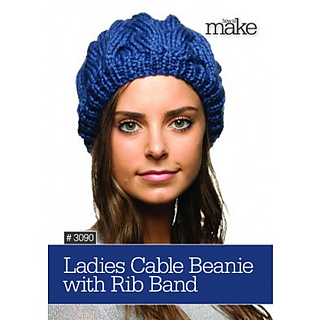Ravelry Ladies Cable Beanie With Rib Band Pattern By Lincraft