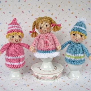 Ravelry: Knitted Egg Cosy Dolls pattern by Wendy Phillips