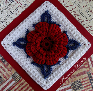 Ravelry American Beauty Afghan Block Pattern By Donna Kay Lacey