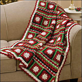 Ravelry Snowflakes Amp Ribbons Throw Pattern By Katherine Eng