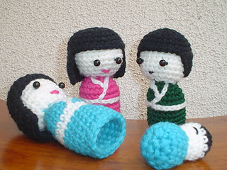 Amigurumi Nesting Dolls : Ravelry: Amigurumi Kokeshi Nesting Dolls pattern by Teresa ...