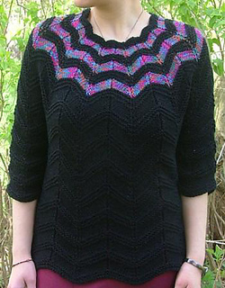 Ravelry: Falling Stars Top Down Sweater pattern by Elaine ...