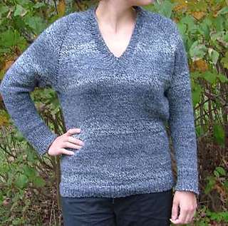 Ravelry: Top Down V-Neck Raglan Sweater pattern by Elaine Phillips