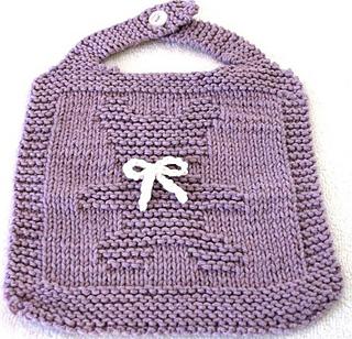 Knitted Teddy Bear Pattern Ravelry : Ravelry: TEDDY BEAR - Bib Knitting Pattern pattern by ...