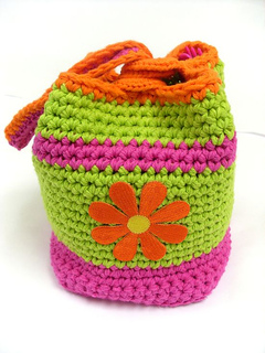ravelry happy bento lunch caddy pattern by nancy anderson. Black Bedroom Furniture Sets. Home Design Ideas