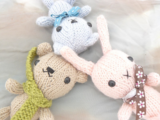 Ravelry: Knitted amigurumi teddy bear, rabbit, cat pattern ...