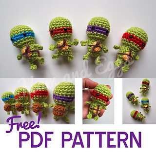 Free Crochet Teenage Mutant Ninja Turtle Pattern : Ravelry: Tiny Turtles Teenage Mutant Ninja Turtles ...