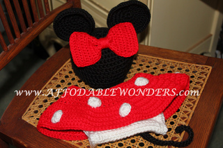 Free Crochet Pattern Minnie Mouse Diaper Cover : Ravelry: Minnie Mouse Inspired Diaper Cover Crochet ...