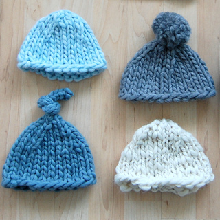 Child s Knit Hat Pattern Bulky Yarn : Ravelry: Super Bulky Newborn Hat pattern by Jen Geigley