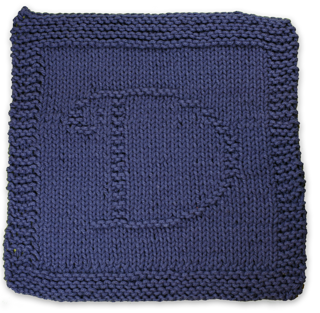 Knitted Dishcloth Pattern With Letters : Ravelry: Monogrammed Dishcloth Letter D pattern by Heather ...