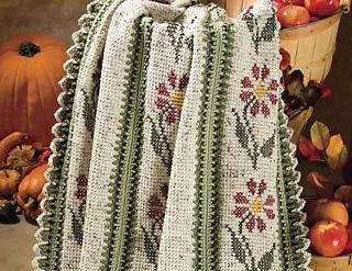 Ravelry Autumn Garden Throw Pattern By Glenda Winkleman
