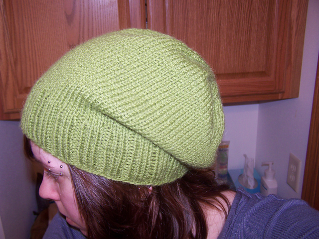 Green Hat I Knitted