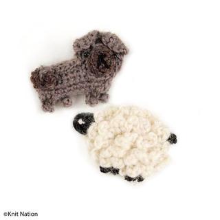 Ravelry: Knit Nation Mascots - Pug and Sheep pattern by Irene Strange