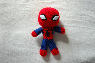Free Spiderman Knitting Patterns : Ravelry: Spiderman - mini doll crochet pattern pattern by Jenny Riley